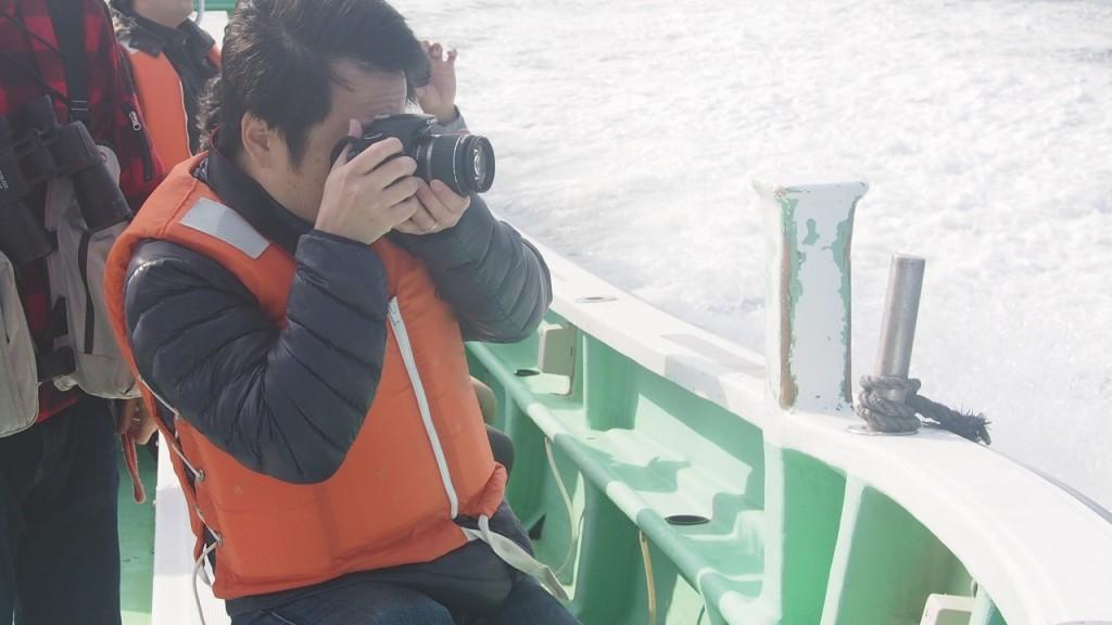船上では皆さん写真を撮ったり意見を交換し合ったりと活発な雰囲気