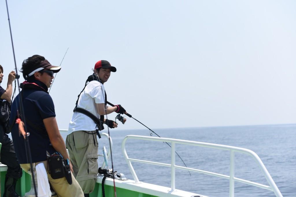 うみラボのぴぽ隊員。釣りの補助でほとんど釣る時間がなかった模様。ご苦労様です。